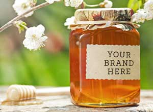Add you brand to your honey packaging.